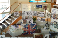Project artist Peter Archer's work on display Brixham.