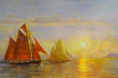 Red Sails Brixham by Peter Archer.
