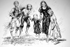 'Workhouse Children' Beggars Hill 'Cowtown'. 1830.