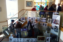 'The Ledge Space' project exhibition Brixham Library.