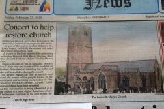 Brixham Newspaper article regarding our exhibition/concert.