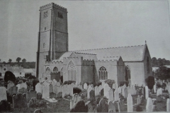 Old photo of St Mary's and grave yard.