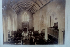 Early photo of interior St Mary's Church.