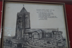 Sketch of St Mary's very early.