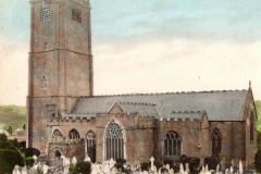 Hand coloured photo of Victorian St Mary's.