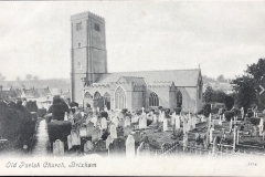 Dated old photograph of church.