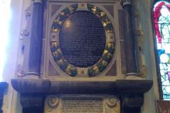 Interior memorial inscription.