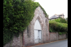 Street view of non-conformist chapel of rest. Present day.