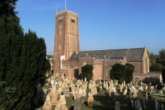 View of present day church and church yard.