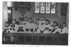 1950's choir boys St Mary's Church.