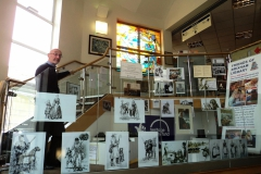 Paul Bennett at Brixham Library 'Project Exhibition'.