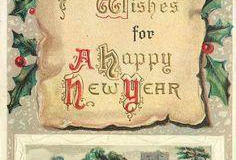 Edwardian New Year Card.
