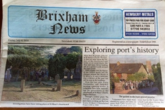 Brixham News Project article.