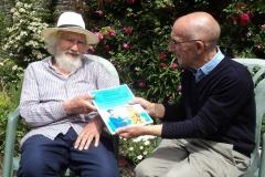 Project artist Peter Archer with Paul Bennett.