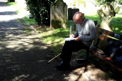 Paul scale drawing the churchyard.